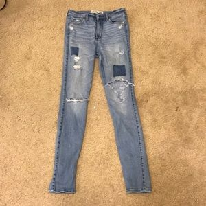 Abercrombie & Fitch size 00 distressed jeans